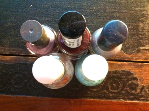 Olympic Logo a Day 12: nail varnish