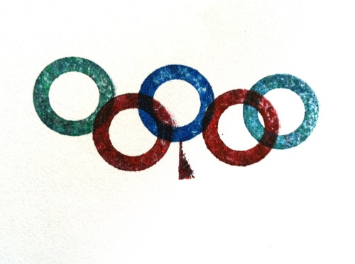 Olympic Logo a Day 017: inky