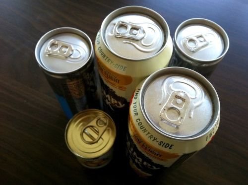 Olympic Logo a Day 022: cans of fizzy drinks