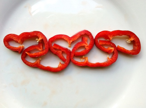 Olympic Logo a Day 040: red peppers