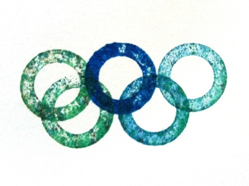 Olympic Logo a Day 042: inky