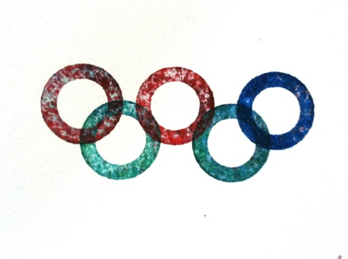 Olympic Logo a Day 069: inky