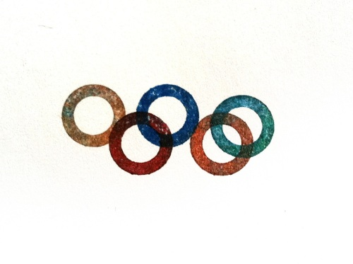 Olympic Logo a Day 082: inky