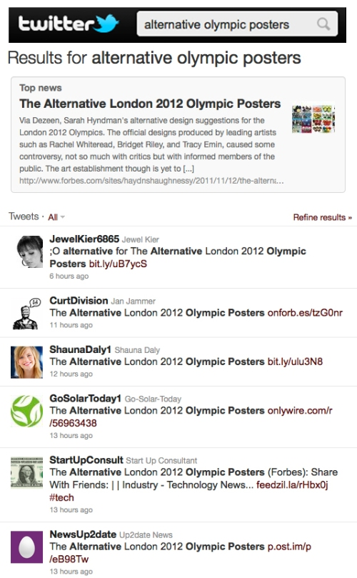 Twitter Alternative Olympic Posters